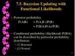 7 5 bayesian updating with functional likelihoods