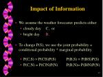 impact of information