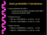 joint probability calculations