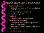 mental heuristics causing bias