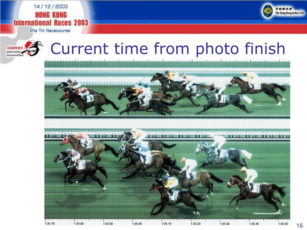 Current time from photo finish