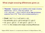 what single crossing differences gives us