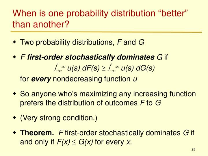 """When is one probability distribution """"better"""" than another?"""