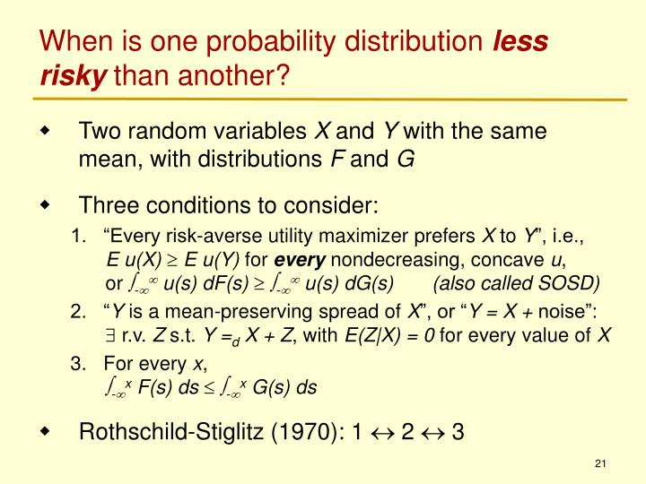 When is one probability distribution