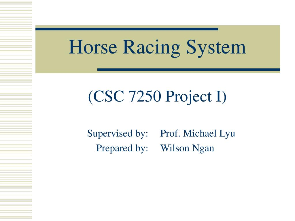 horse racing system l.