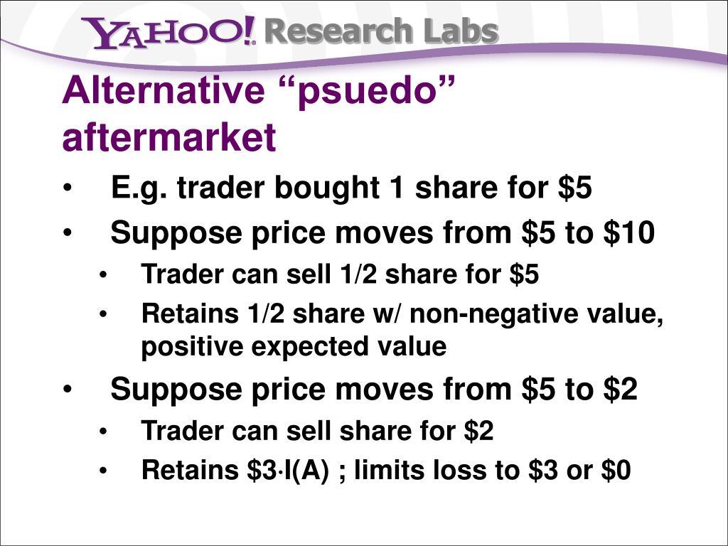 """Alternative """"psuedo"""" aftermarket"""