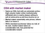 cda with market maker