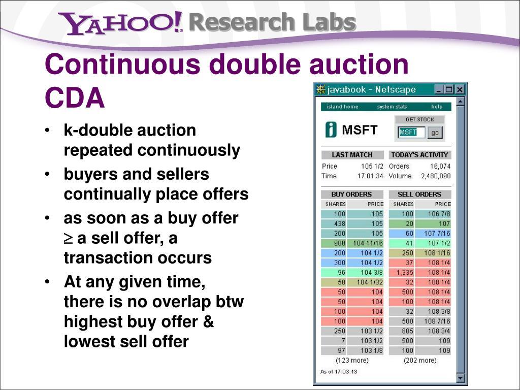 Continuous double auction
