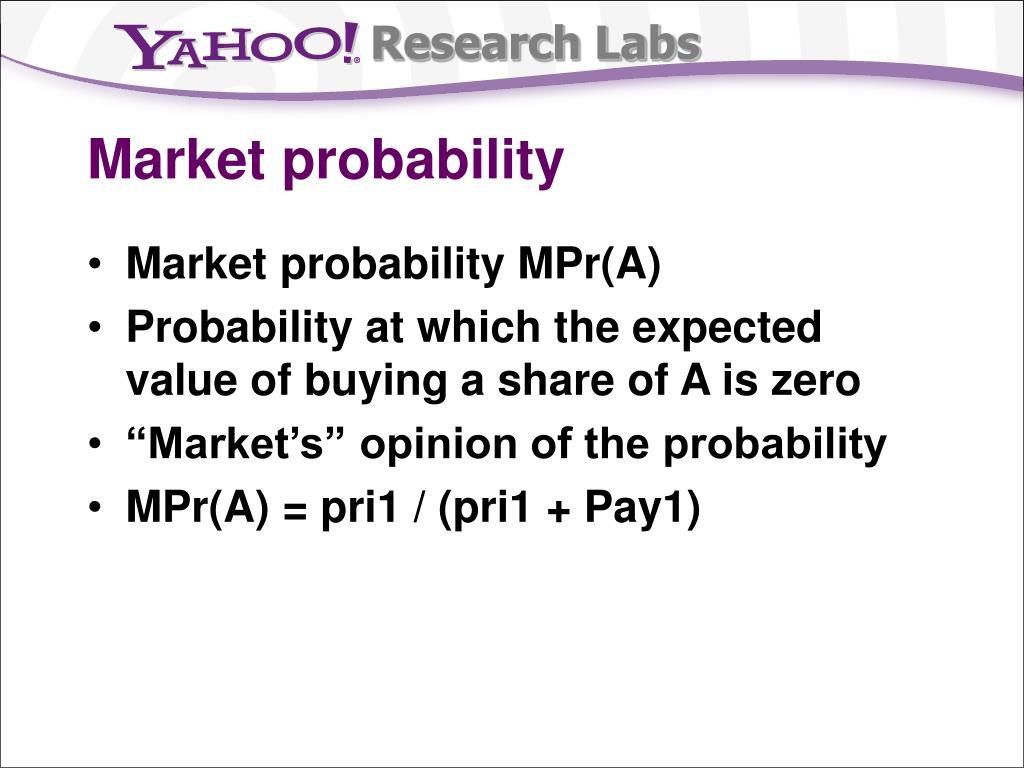 Market probability