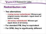 redistribution rule
