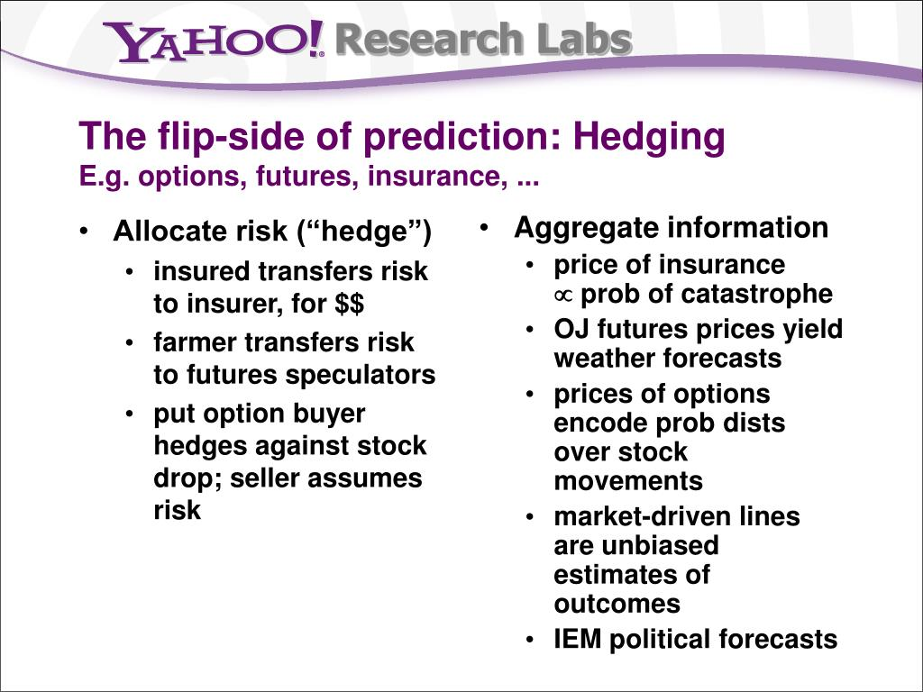 """Allocate risk (""""hedge"""")"""