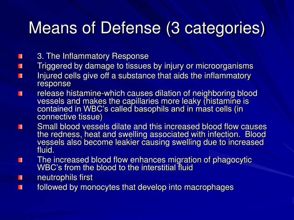 Means of Defense (3 categories)