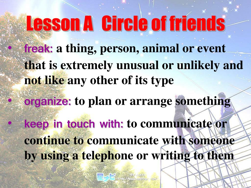 Lesson A	Circle of friends