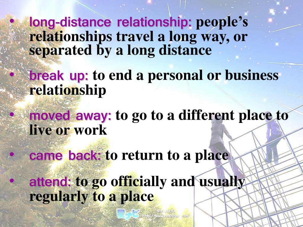 long-distance relationship: