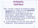 ambiguity definition