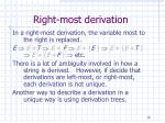 right most derivation