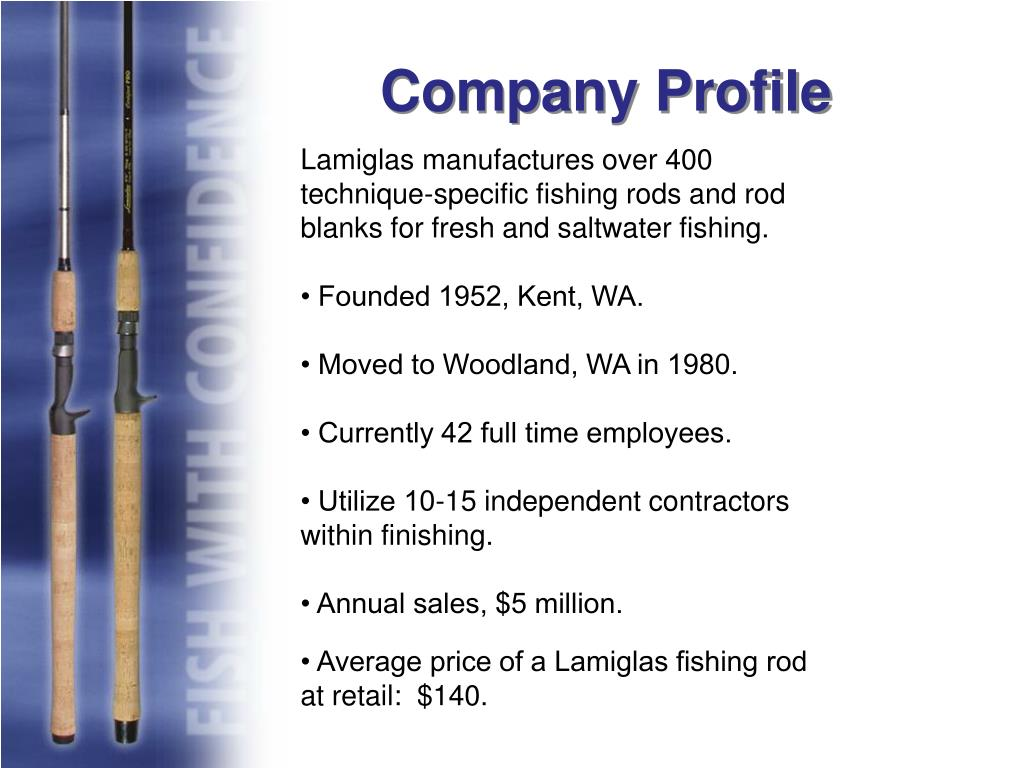 Lamiglas manufactures over 400 technique-specific fishing rods and rod blanks for fresh and saltwater fishing.