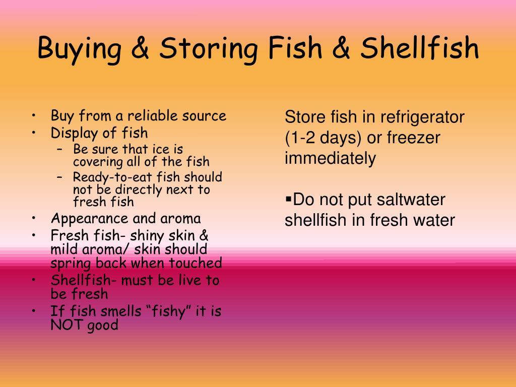 Buying & Storing Fish & Shellfish