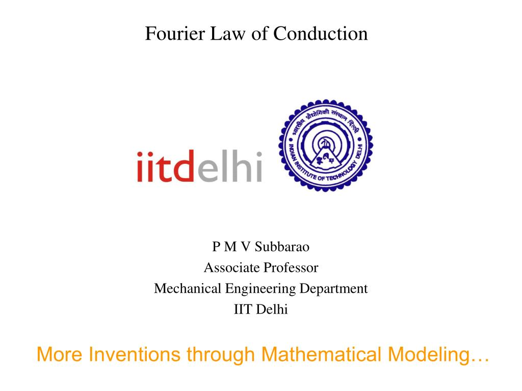 fourier law of conduction l.