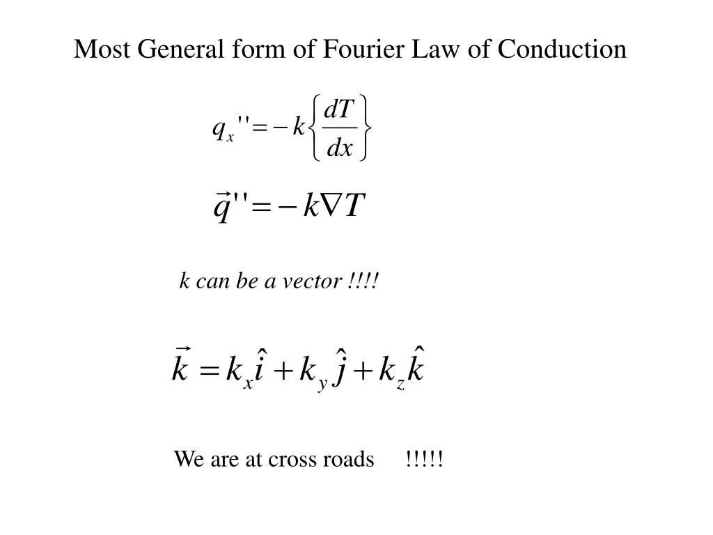 Most General form of Fourier Law of Conduction