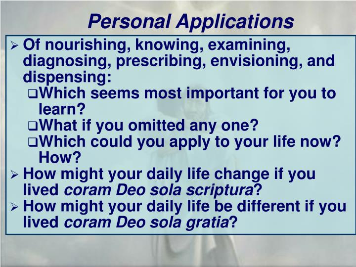 Personal Applications