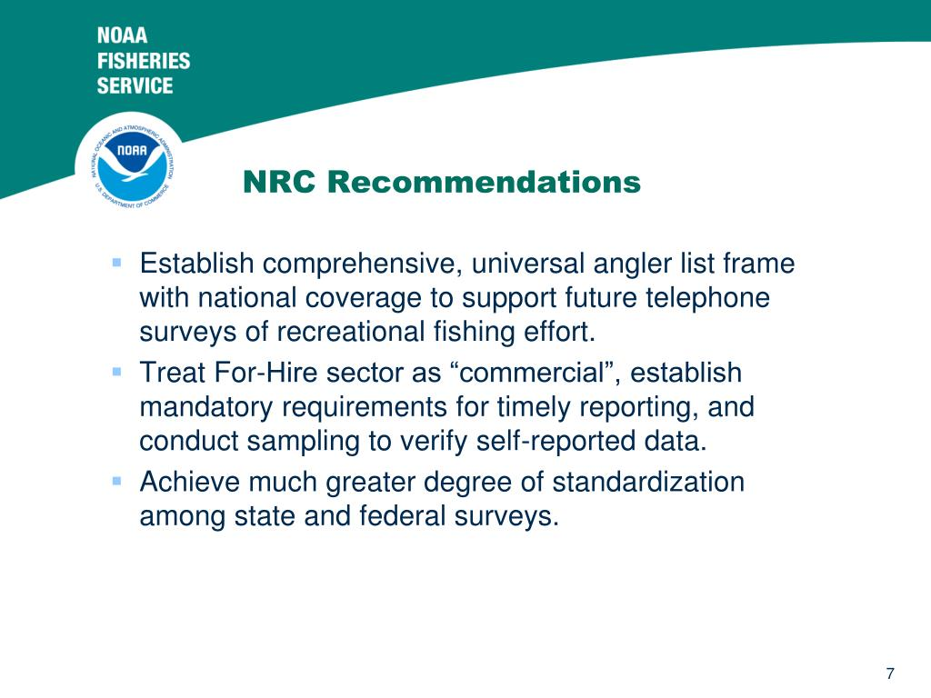 NRC Recommendations
