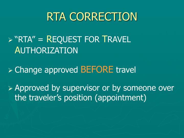 Rta correction