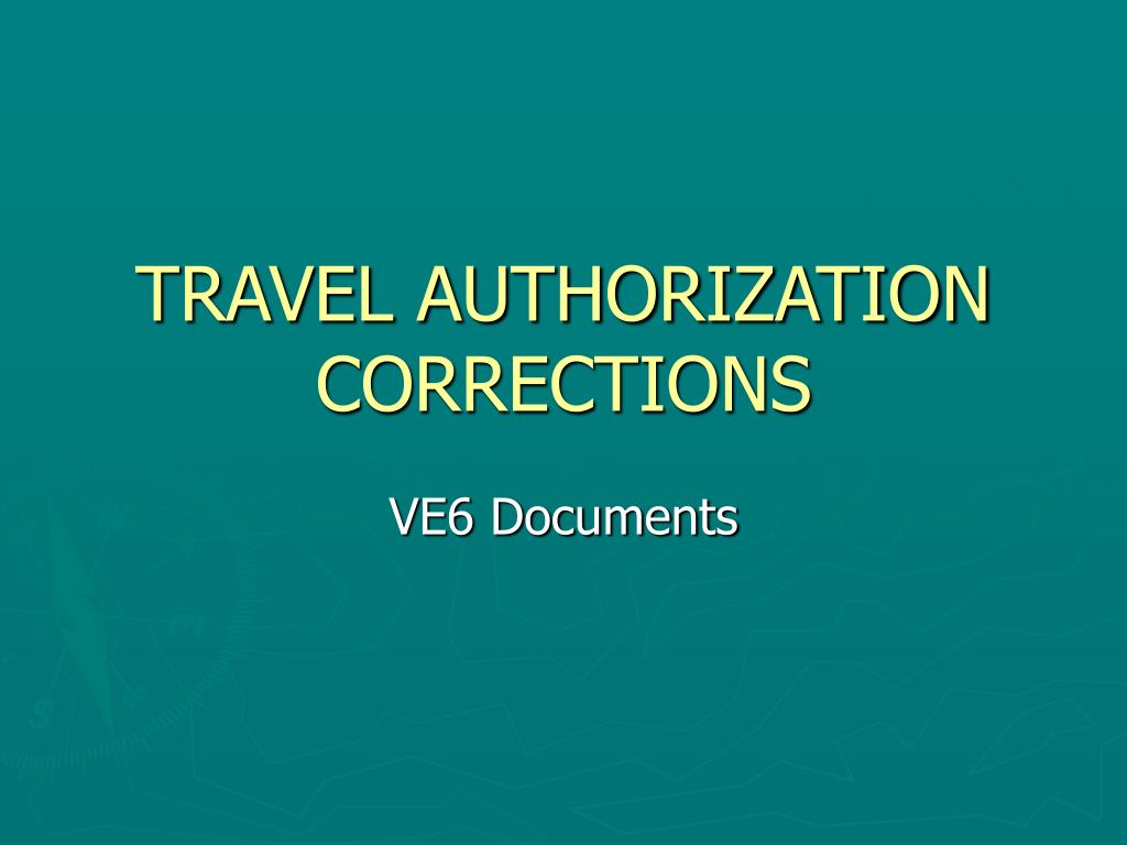 travel authorization corrections l.