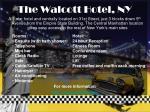 the walcott hotel ny
