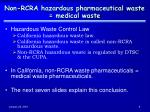 non rcra hazardous pharmaceutical waste medical waste