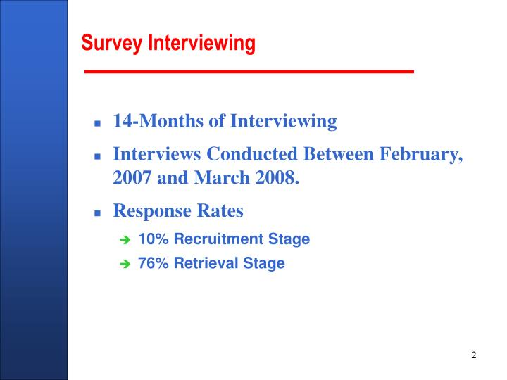 Survey interviewing