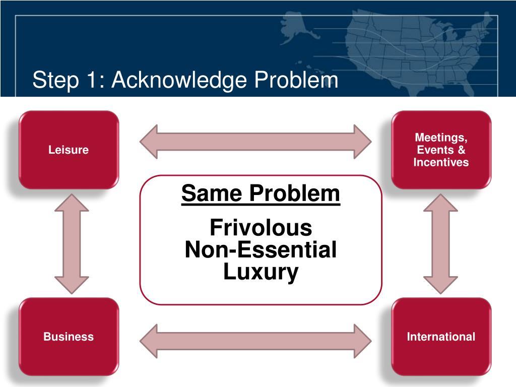 Step 1: Acknowledge Problem