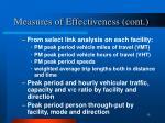 measures of effectiveness cont