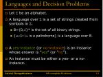 languages and decision problems