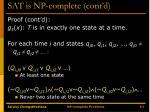 sat is np complete cont d7
