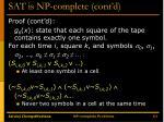 sat is np complete cont d8