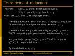 transitivity of reduction