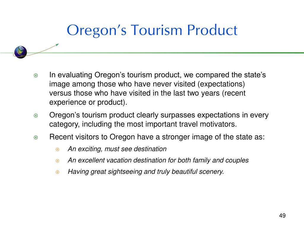 Oregon's Tourism Product
