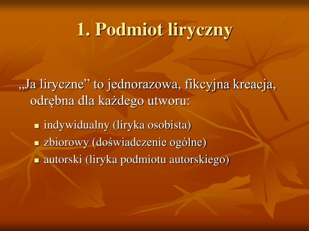 Ppt Analiza Poezji Na Maturze Powerpoint Presentation