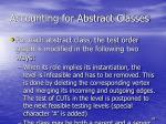 accounting for abstract classes