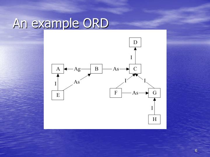 An example ORD