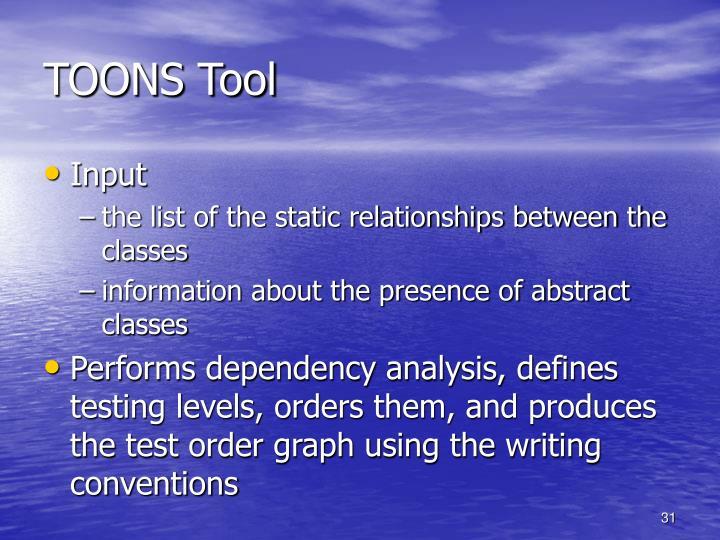 TOONS Tool
