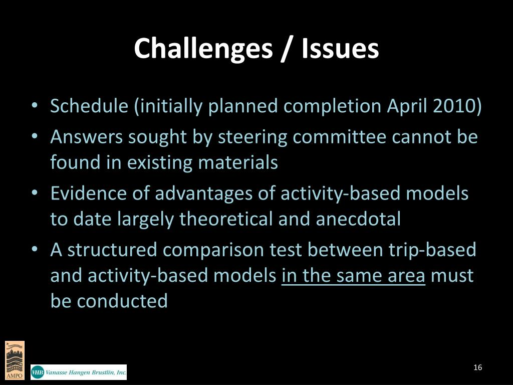 Challenges / Issues