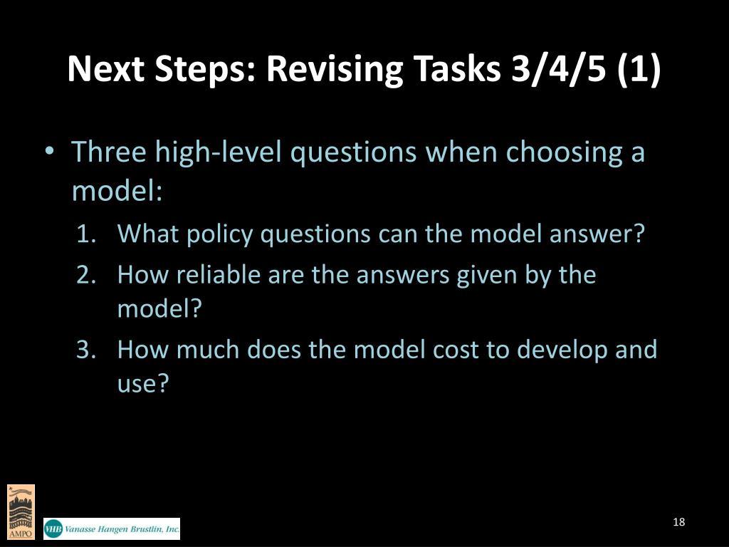 Next Steps: Revising Tasks 3/4/5 (1)