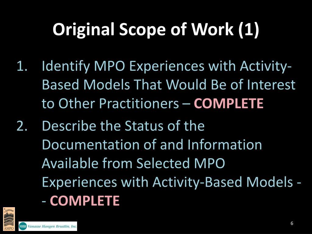 Original Scope of Work (1)