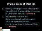 original scope of work 1
