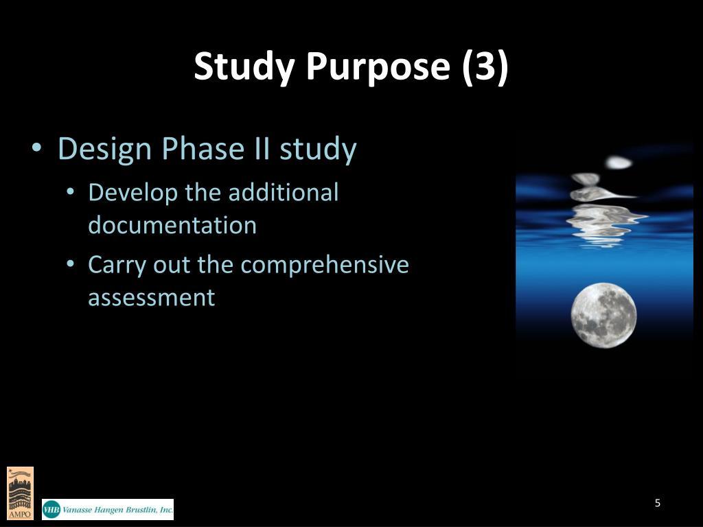 Study Purpose (3)