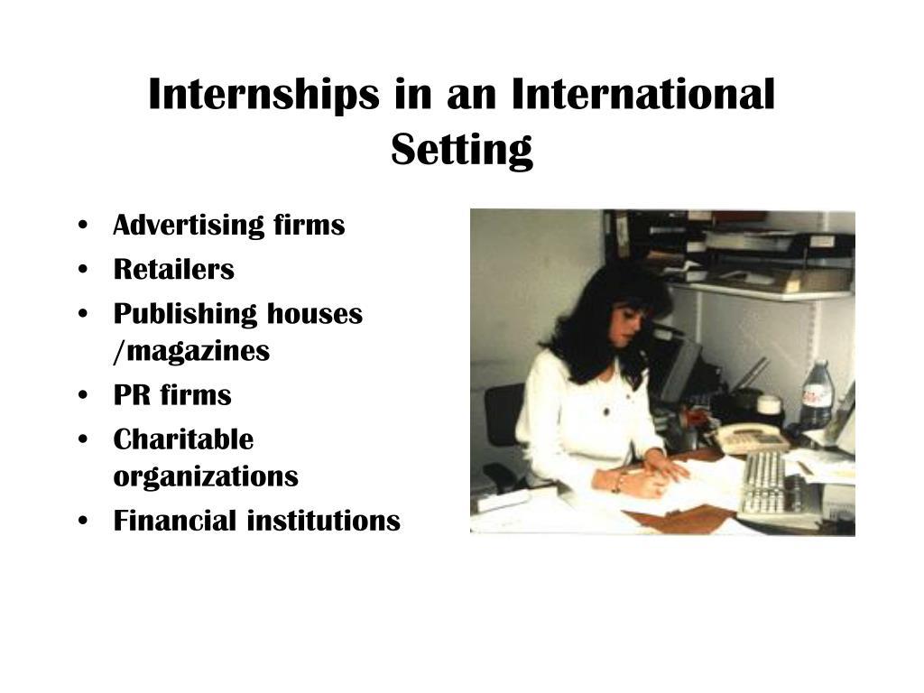 Internships in an International Setting