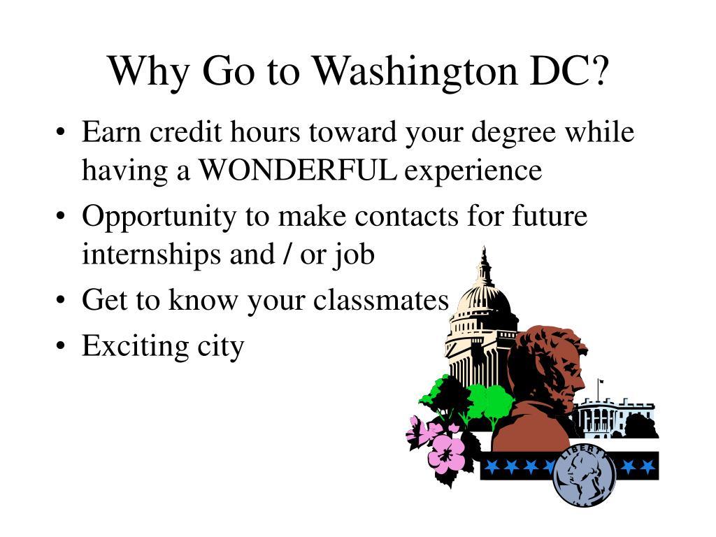 Why Go to Washington DC?