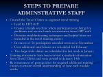steps to prepare adminstrative staff4